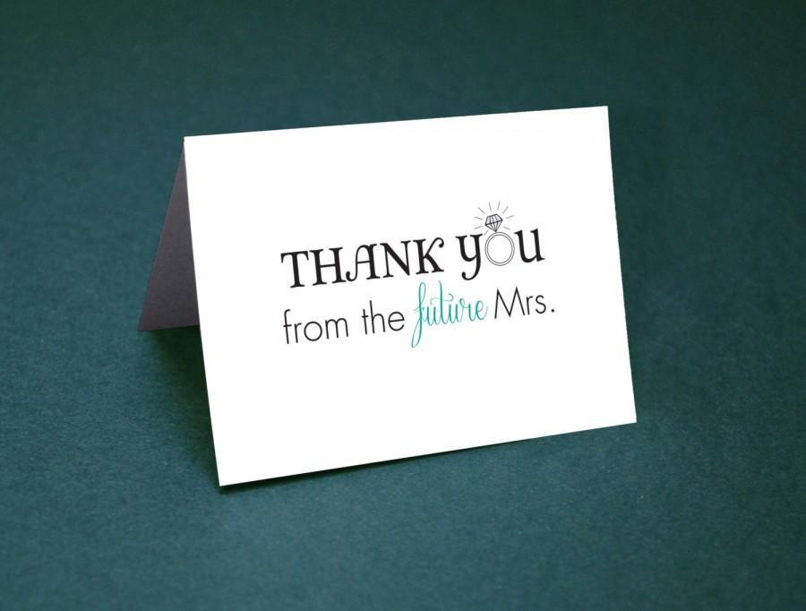 wedding shower thank you cards u2022 thank yous u2022 bridal shower thanks u2022 future mrs thank you card u2022 future mrs
