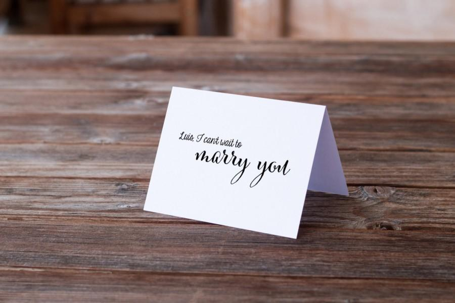 Wedding Card to Bride or Groom on the Day Of  I can t wait to marry you   Greeting Card  Wedding Gift Card  Calligraphy stationery. Wedding Card To Bride Or Groom On The Day Of  I Can t Wait To