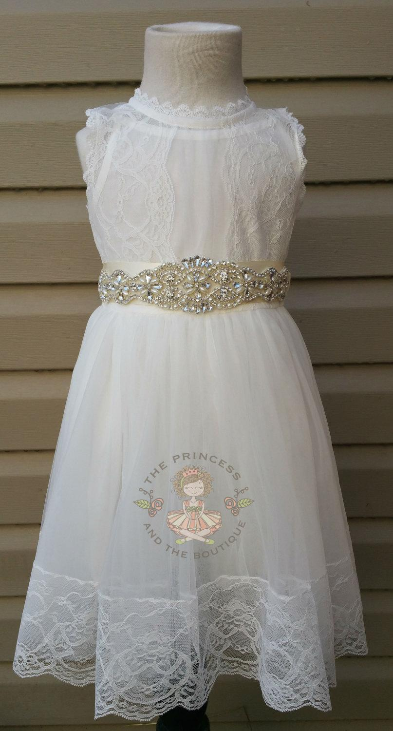c586bd5e6 vintage white flower girl dress, baby dress, vintage flower girl dress,  lace dress, cream flower girl dress, champagne flower girl dress
