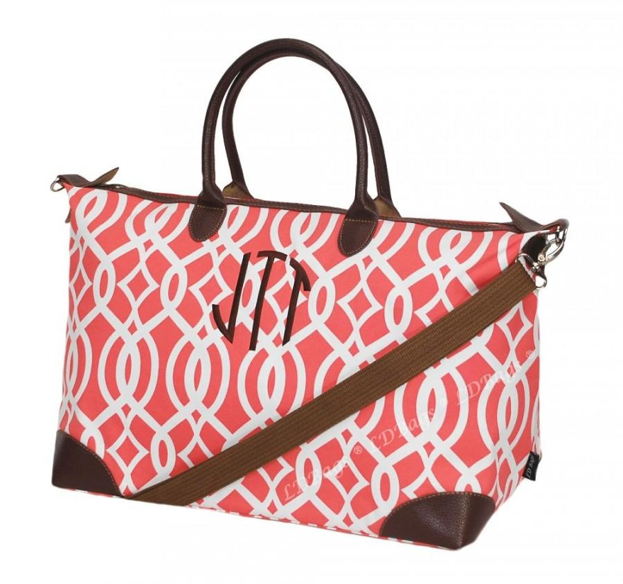 Classic Collection Weekender Tote Bag Overnight Bridesmaid Gift Nylon Large C Vine