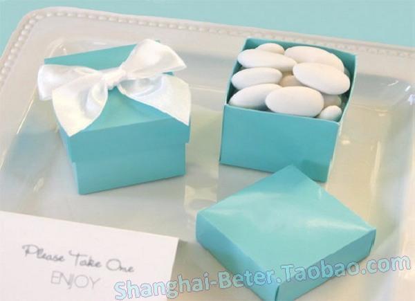 Wedding - 12pcs原创喜糖盒Tiffany Blue蒂凡尼糖果袋TH040浪漫婚礼餐桌布置