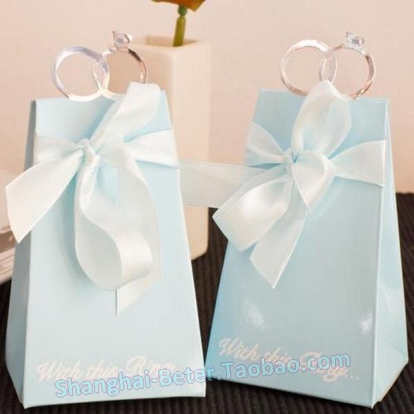 Wedding - 12pcs欧式喜糖盒子大号结婚创意2014喜糖袋糖盒装烟婚庆用品TH021