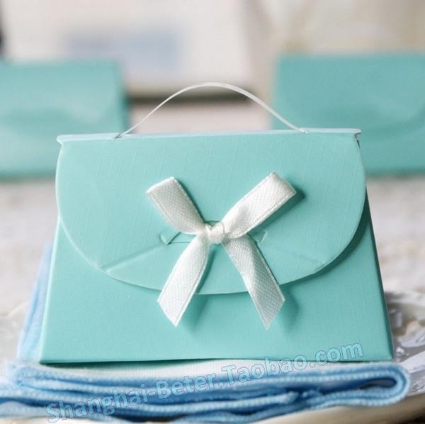 Hochzeit - 12pcs结婚糖盒喜糖袋TH024小清新薄荷绿 蒂芙尼蓝色欧式喜糖盒