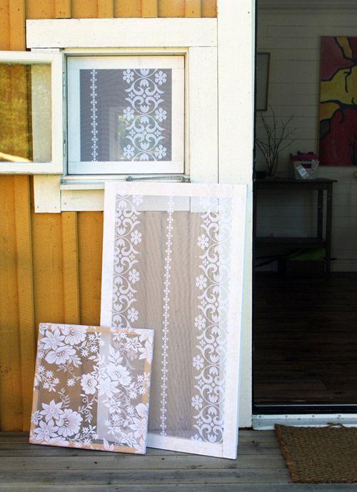 Hochzeit - Make This: Lace Stretched Frames  — 365 Saker Du Kan Slojda