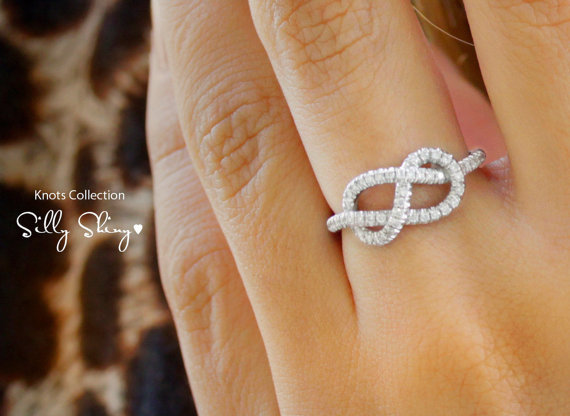 Boda - Infinity Engagement Ring - The Original, 14K/18K Gold Ring, 0.35 CT Diamond Ring, Unique Engagement Ring, Infinity Knot Ring