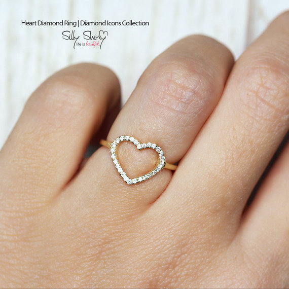 Delicate Yellow Gold Pave Wedding Ring