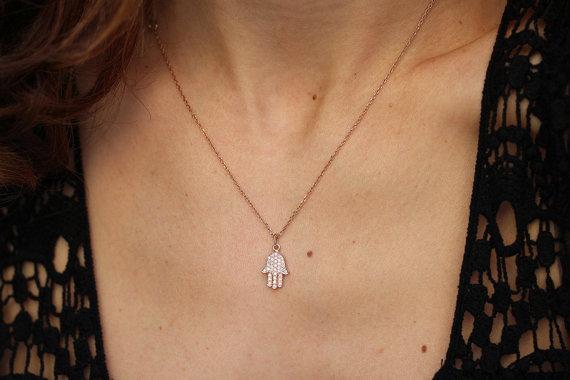 Hamsa necklace 14k rose gold necklace diamond pendant necklace hamsa necklace 14k rose gold necklace diamond pendant necklace hamsa hand pendant gold pendant diamond necklace aloadofball Gallery