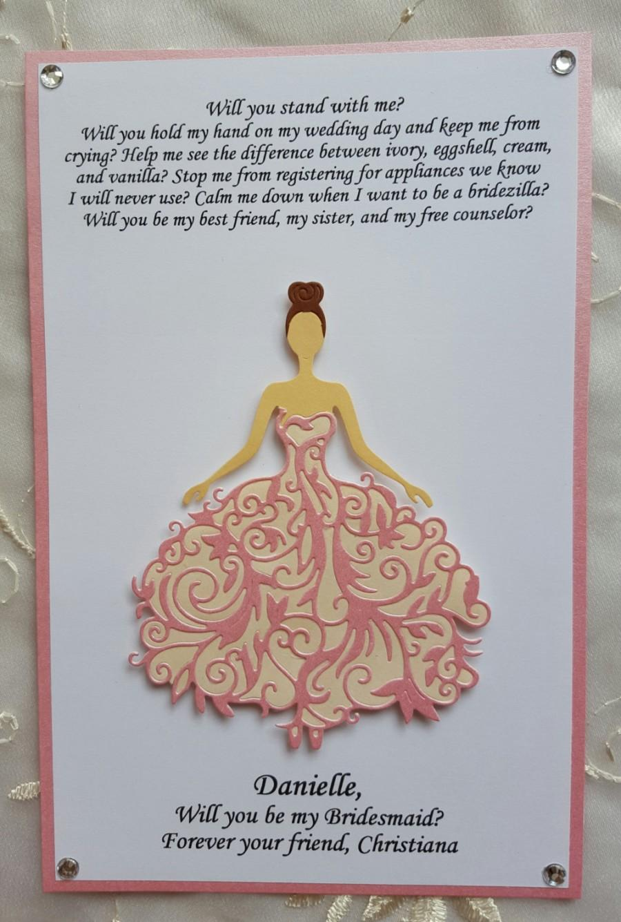Will you be my bridesmaid invitations dress cards gift maid will you be my bridesmaid invitations dress cards gift maid matron of honor card bridal gown invitation 1 2 3 4 5 cards ombrellifo Image collections