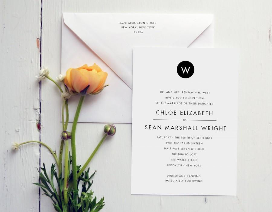 Mariage - Wedding Invitation - Modern Monogram - JPress Designs - monogram, elegant, letterpress, classic, save the date, wedding suite, sophisticated