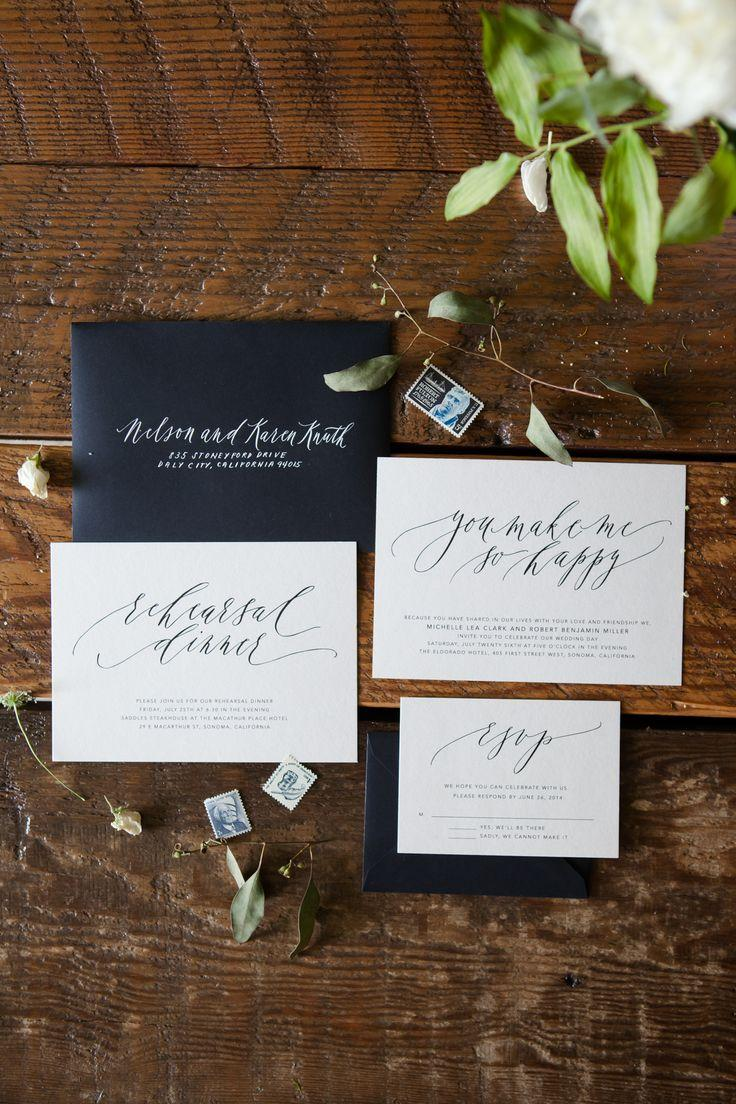Свадьба - Written Word Calligraphy Wedding Invitations