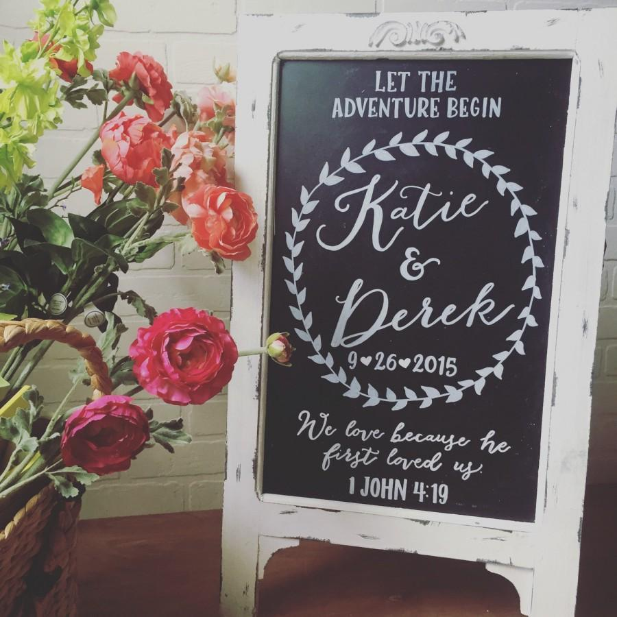 Wedding Chalkboard Easel • Chalkboard Sign • Wedding