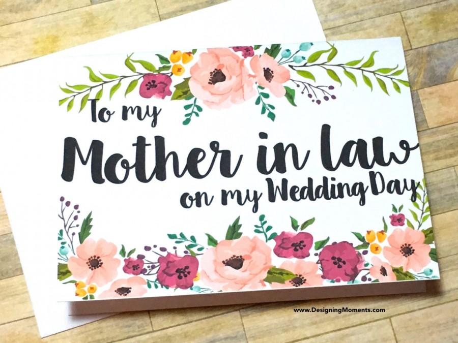 Свадьба - Mother in Law Thank You Card, Wedding Mother in Law Thank You, Wedding Card, Mother in Law Thank You Card - To my Mother in law