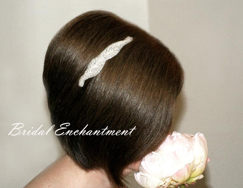 Wedding - Pearl Bridal Headband, Wedding Hairpiece, Bridesmaid Beaded Hair Accessory, Prom