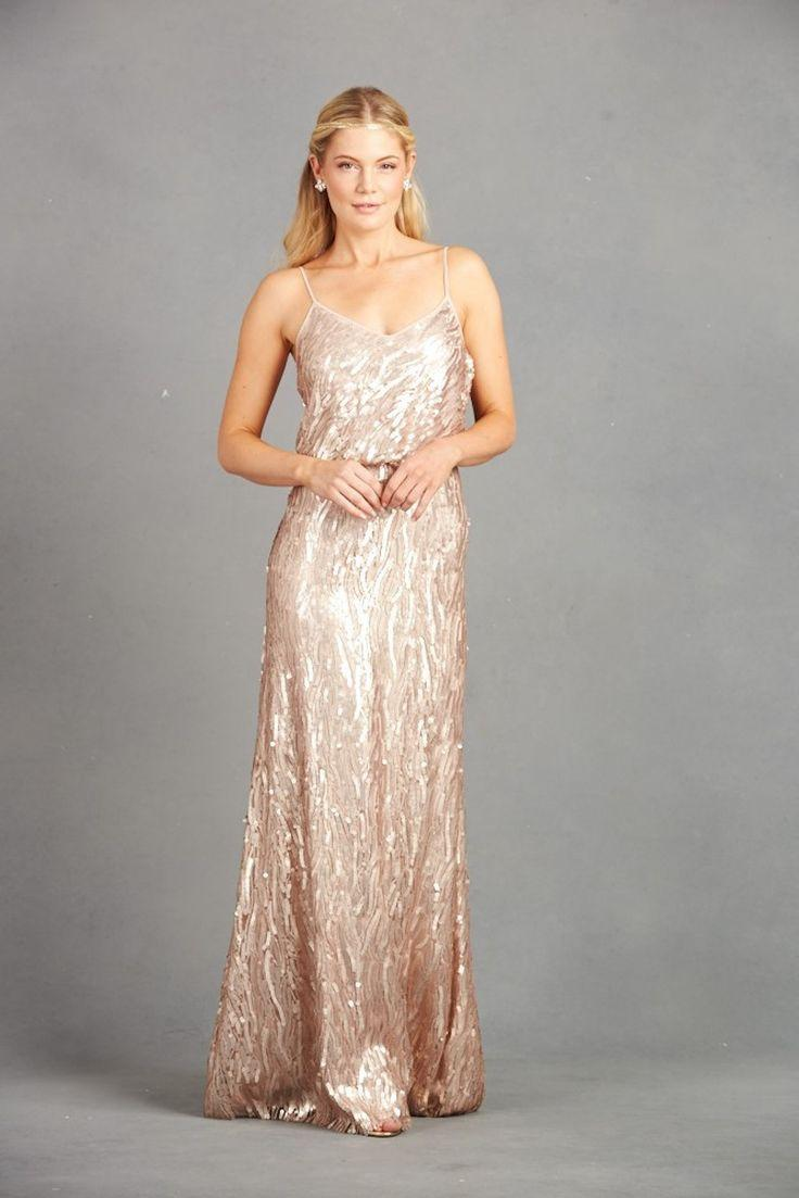Get The Look: Taylor Swift\'s Blush Gold Reem Acra Maid Of Honor ...