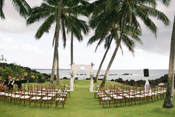 Hochzeit - Stylish Hawaiian Wedding At White Orchid Beach House