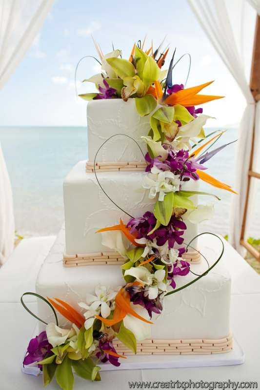 Wedding Theme Tropical Wedding Cake 2490406 Weddbook