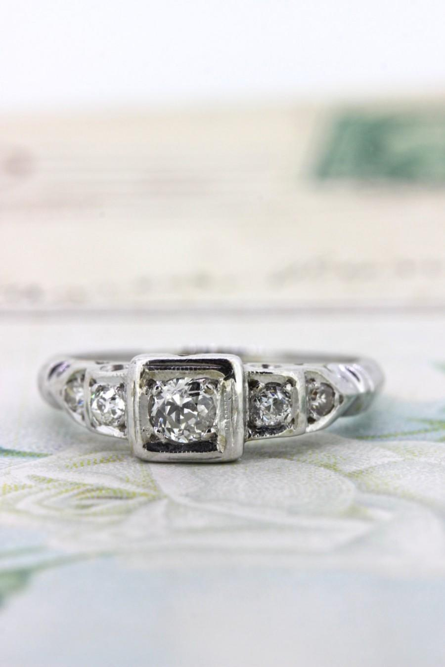 Mariage - Antique Diamond Engagement Ring