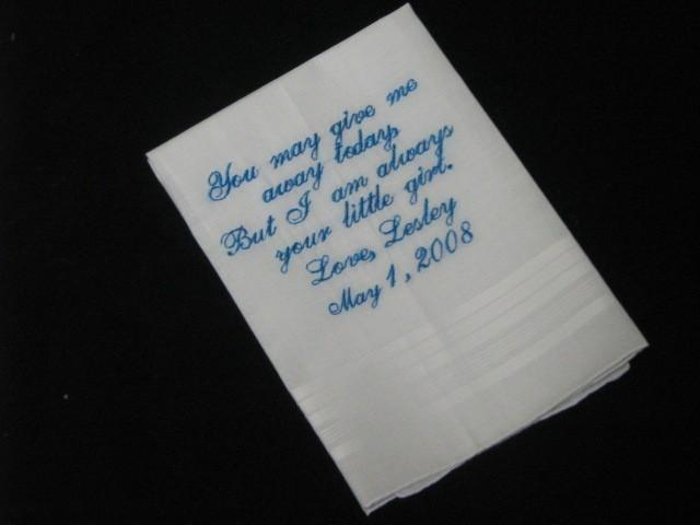 Свадьба - Embroidered Ladies Bridal or Mens Wedding Handkerchief
