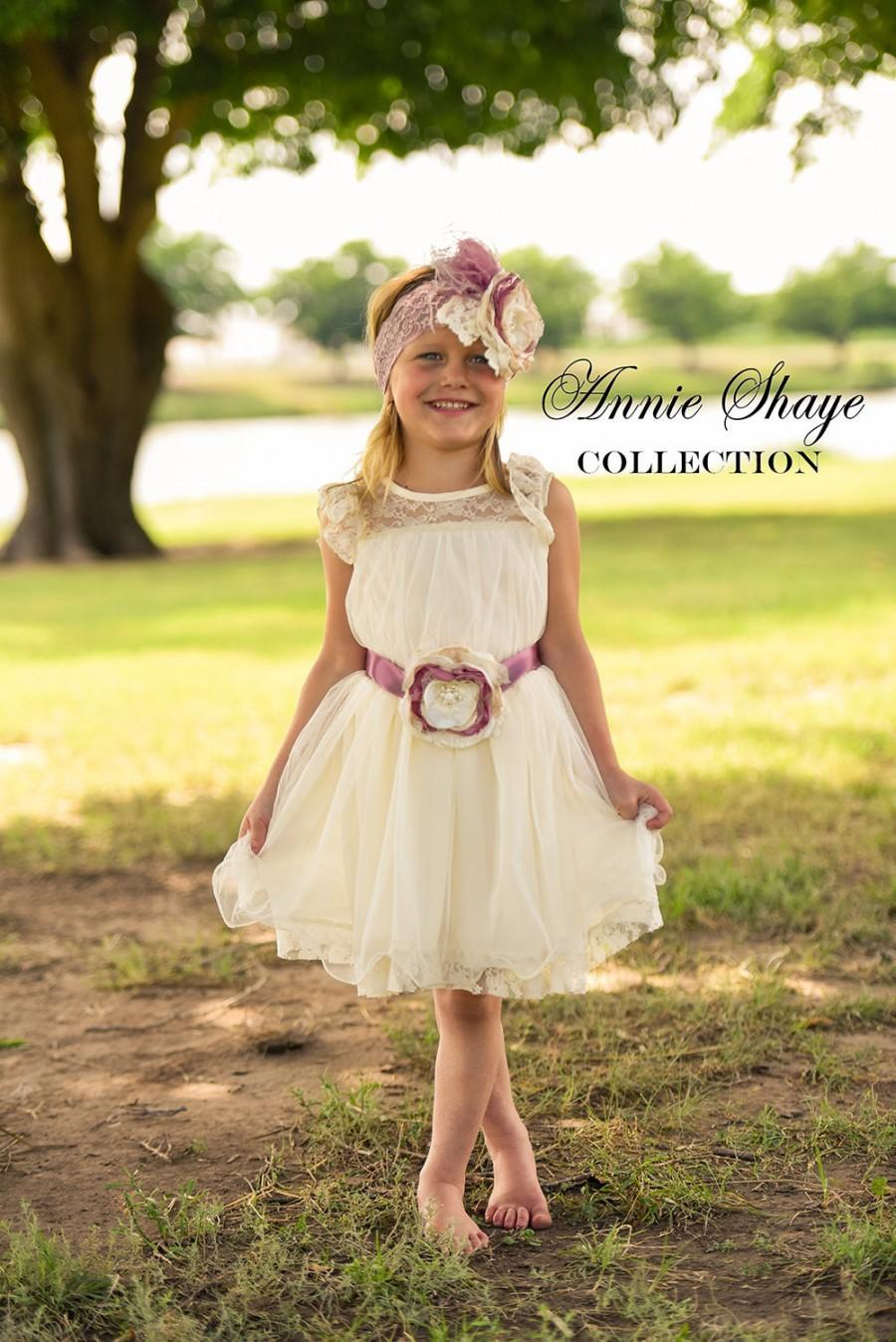 The Olivia By Annie Shaye Collection Ivory Flower Girl Dress