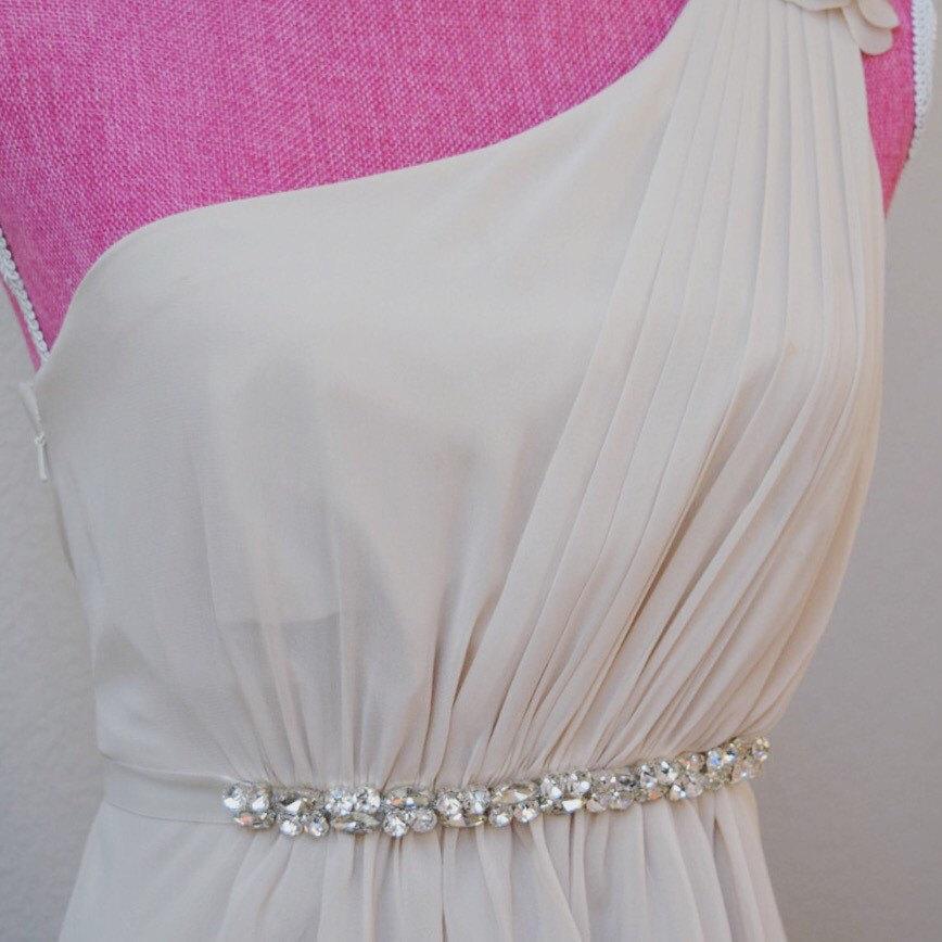 Mariage - Thin Crystal Rhinestone Belt - Bridesmaids Belt - Bridal Belt - Crystal Belt - Cheap Bridesmaids Belt -  EYM B039
