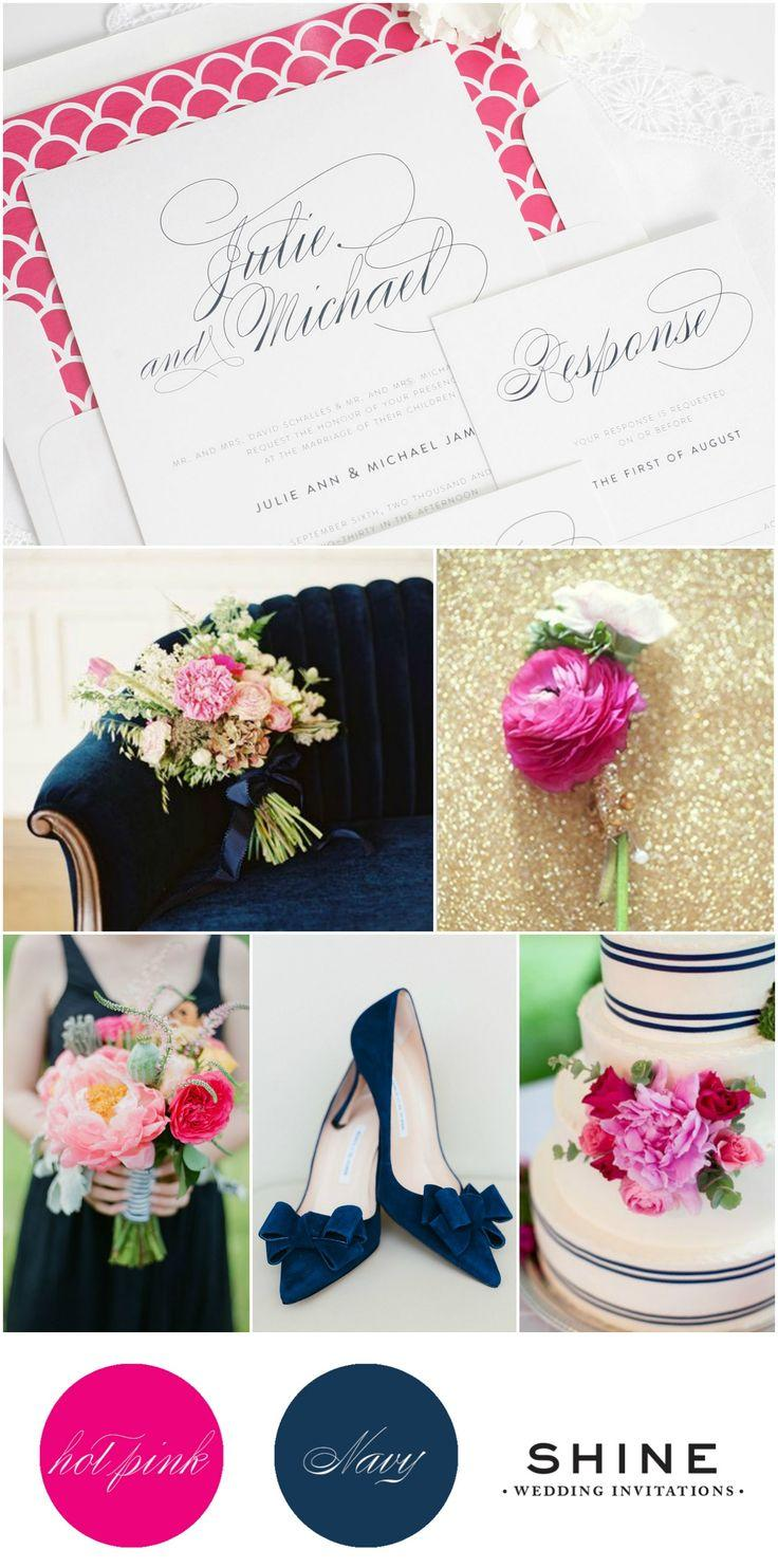 زفاف - Preppy Hot Pink   Navy Wedding Inspiration