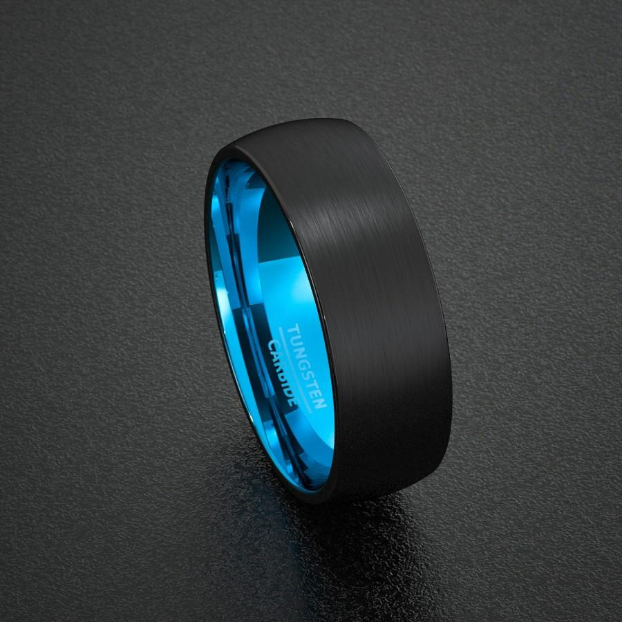 blue steel rings ideas band black ring of inside wedding men eejart bands for carbon stainless