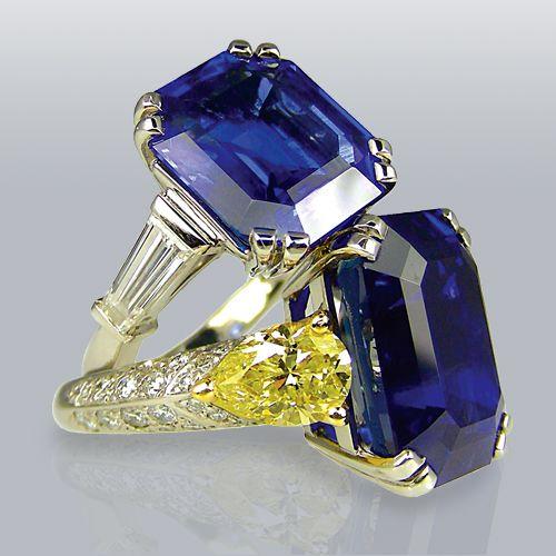 Свадьба - Blue Sapphire Rings