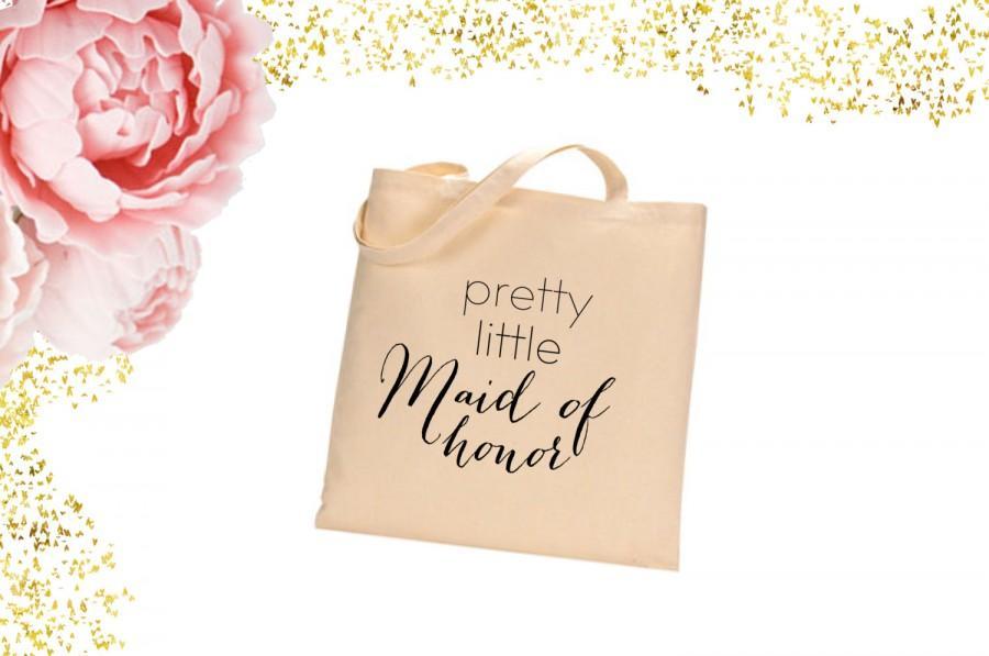 زفاف - Maid of honor Tote Bag. bridal shower gift. wedding tote