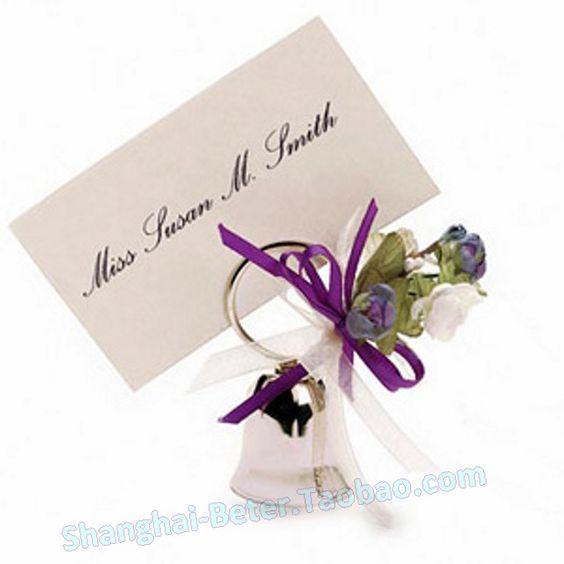 Свадьба - cadeau WJ033 Silver Place card Bell Wedding party Decoration