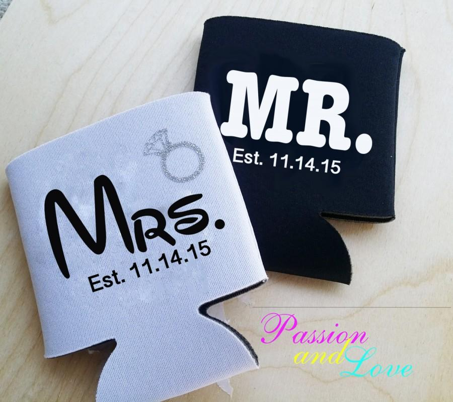 Sale Mr And Mrs Bride Groom Gift Wedding Gift Engagement