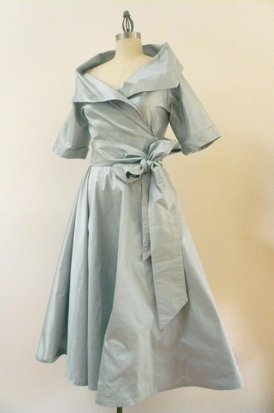 Custom Made MARIA SEVERYNA 50's Style Wrap Full Skirt ...