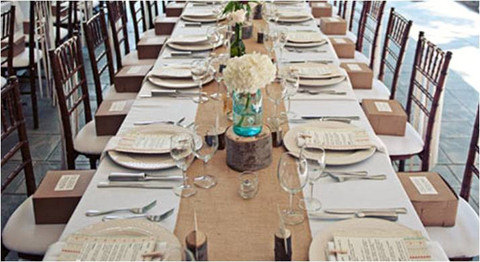 "Свадьба - 120"" x 12"" Inch Burlap Table Runners (Fit 8ft Long Tables)"
