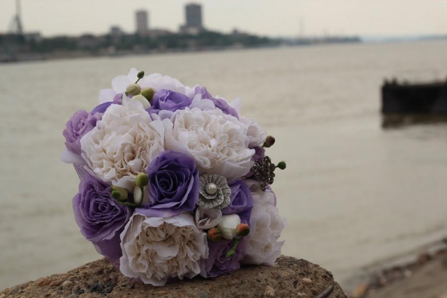 Hochzeit - ROMANTIC PEONIES  Paper Flowers Bouqet