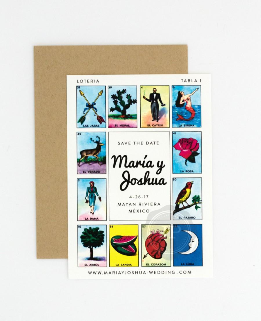 graphic about Loteria Cards Printable identified as Location Wedding day Conserve The Day - Loteria Impressed