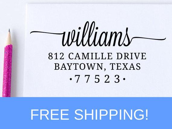 Hochzeit - Return Address Stamp - Self Inking Address Stamp - Personalized Address Stamp   (D171)