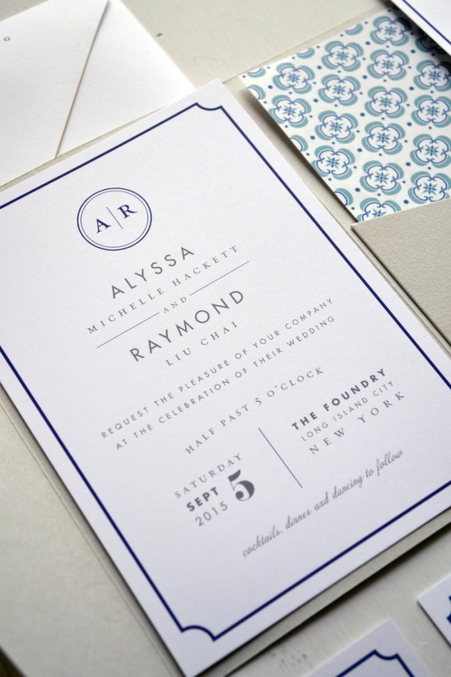 Wedding Invitation With Pocket Metropolitan JPress Designs – Custom Wedding Invitations Nyc
