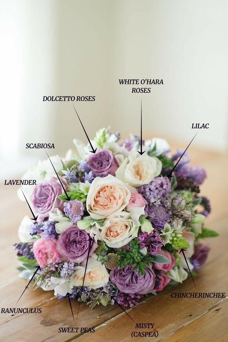Mariage - A Romantic Spring Bridal Bouquet In Purple & Pink