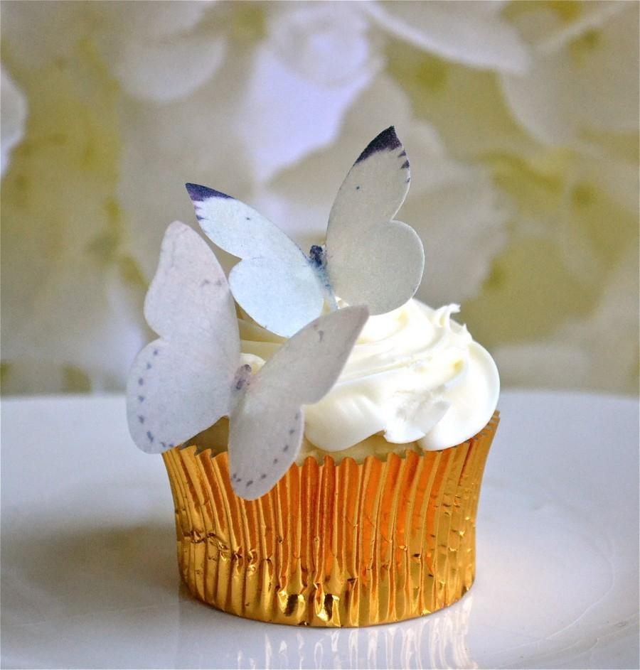 Wedding Cake Topper Edible Buttterflies For Cupcakes And Cakes