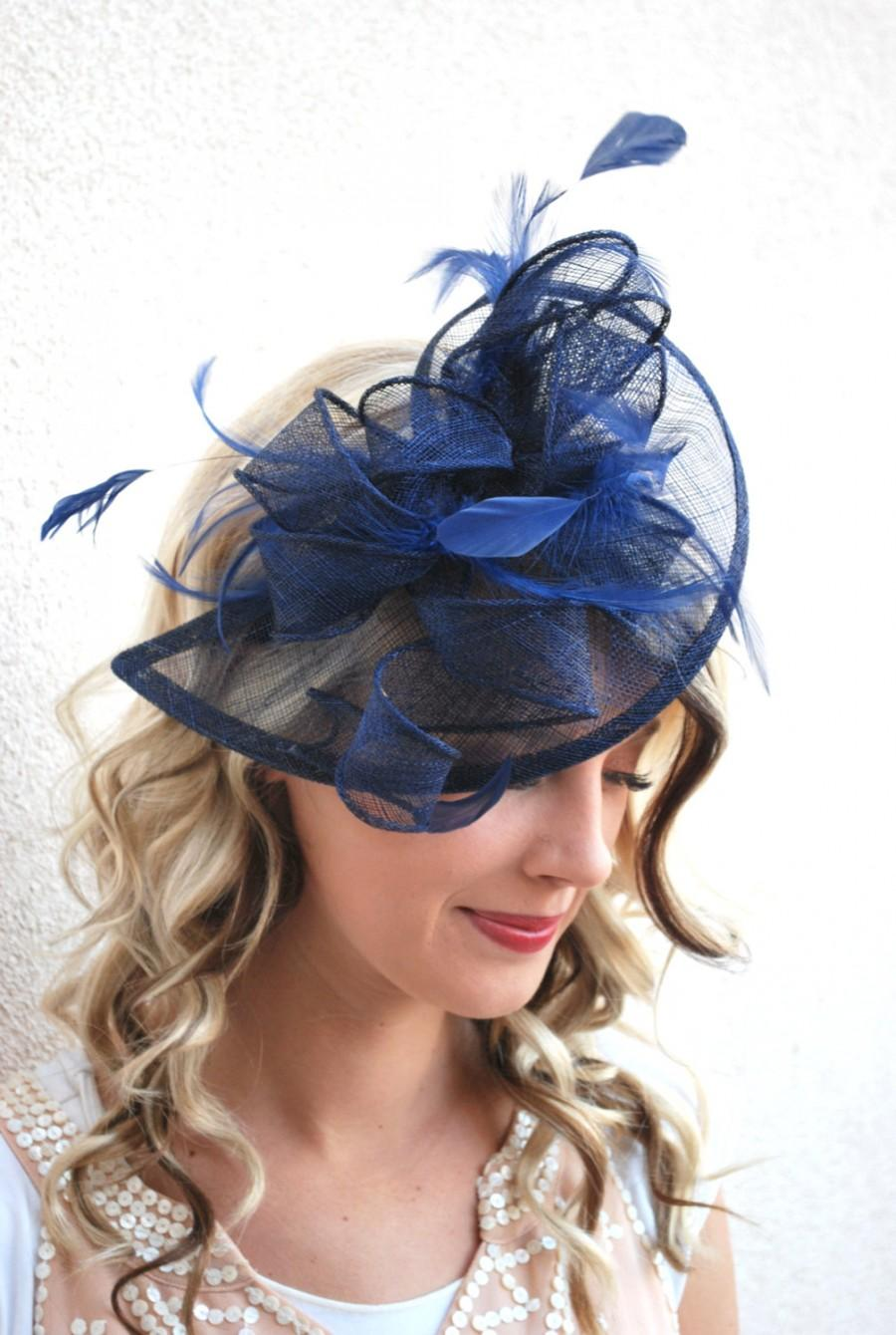 Navy Blue Fascinator 224dacf105a