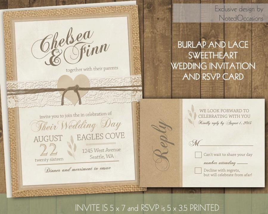 Burlap Wedding Invitations Diy: Rustic Wedding Invitations #2491420