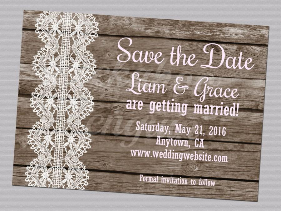 photograph regarding Printable Dates named Rustic Help you save The Day, Printable Region Help save The Dates, Wooden