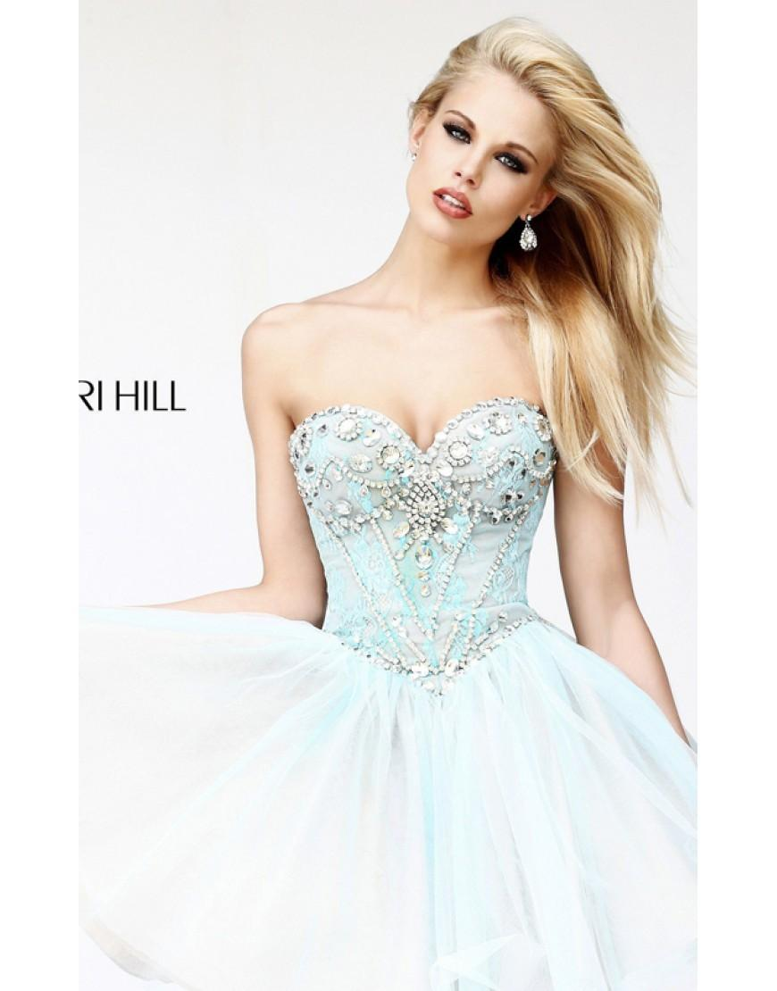 Wedding - Aqua Nude Sherri Hill 21156 Prom Dresses