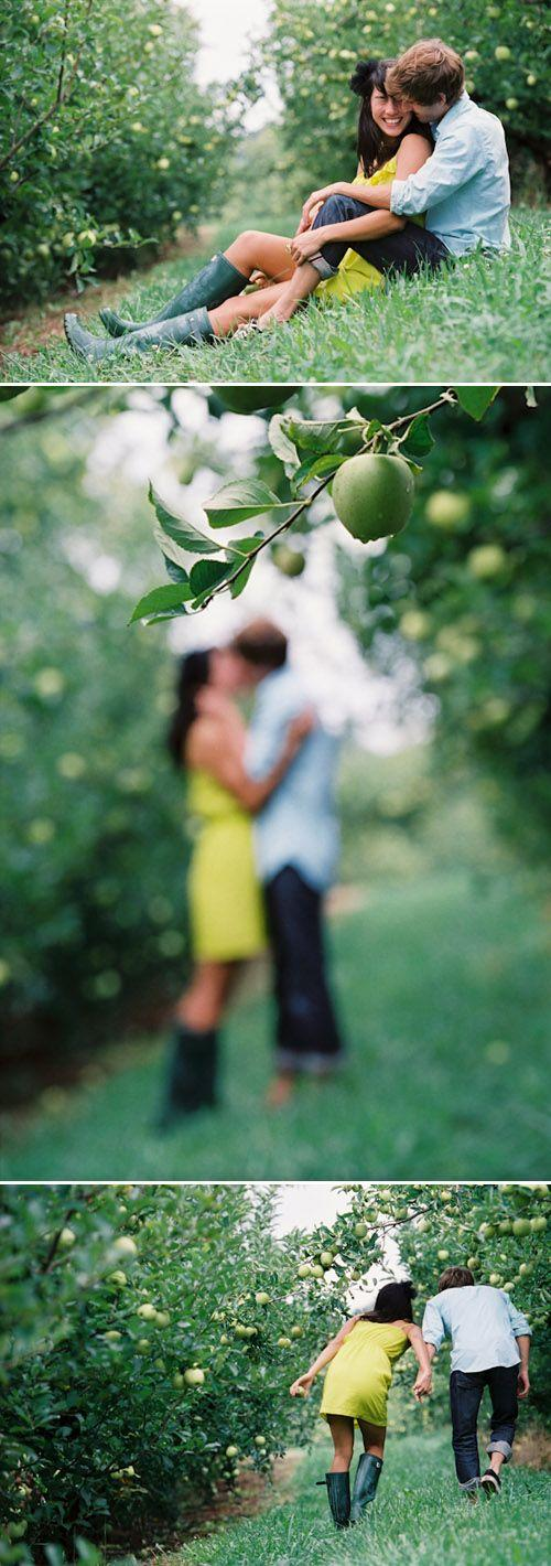 Wedding - Love Session Photos At Carter Mountain Orchard
