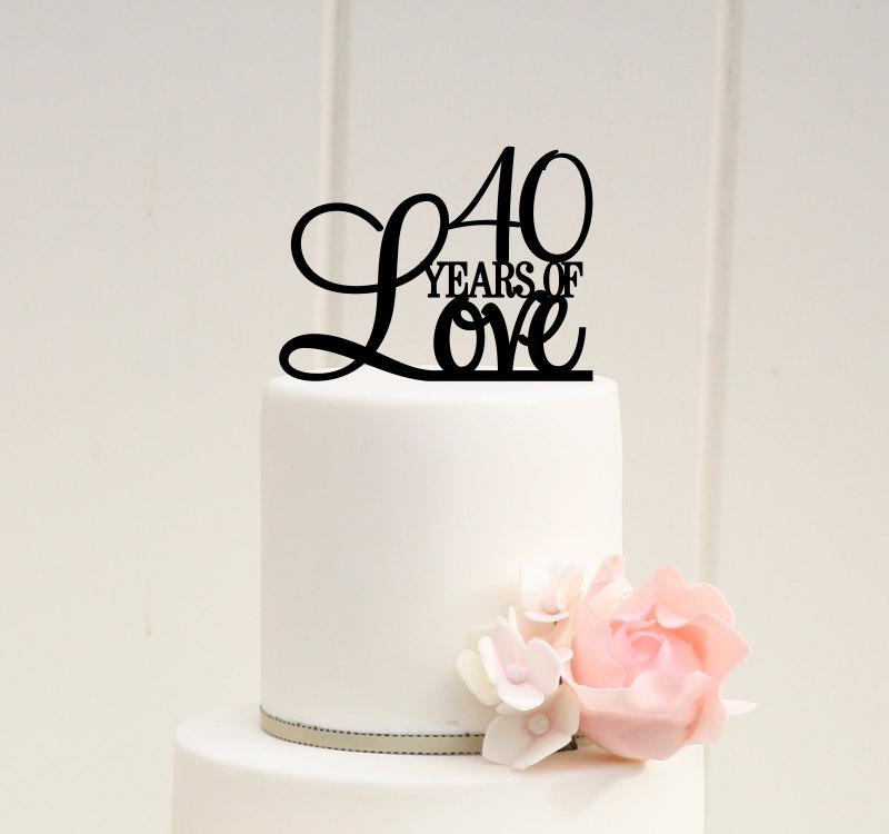 40th Anniversary Cake Topper
