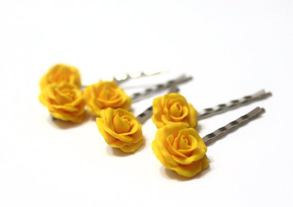 Hochzeit - Yellow Rose set of 6