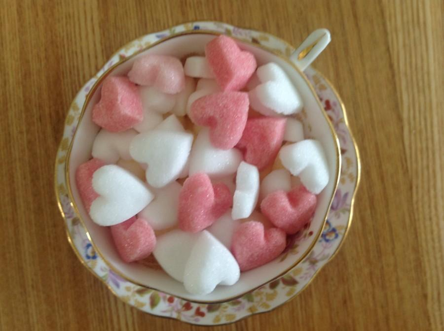 Mariage - 100 Heart Shaped Sugar Cubes for Weddings, Christenings, Anniversaries and all Special occasions