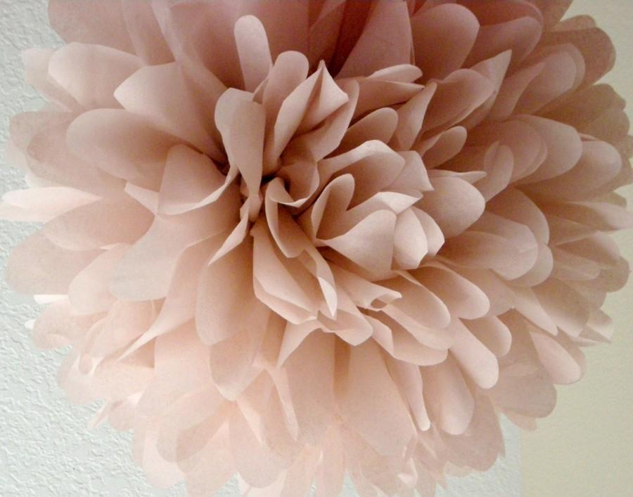 Dusty pink 1 tissue paper pom pom diy wedding for Pom pom room decor