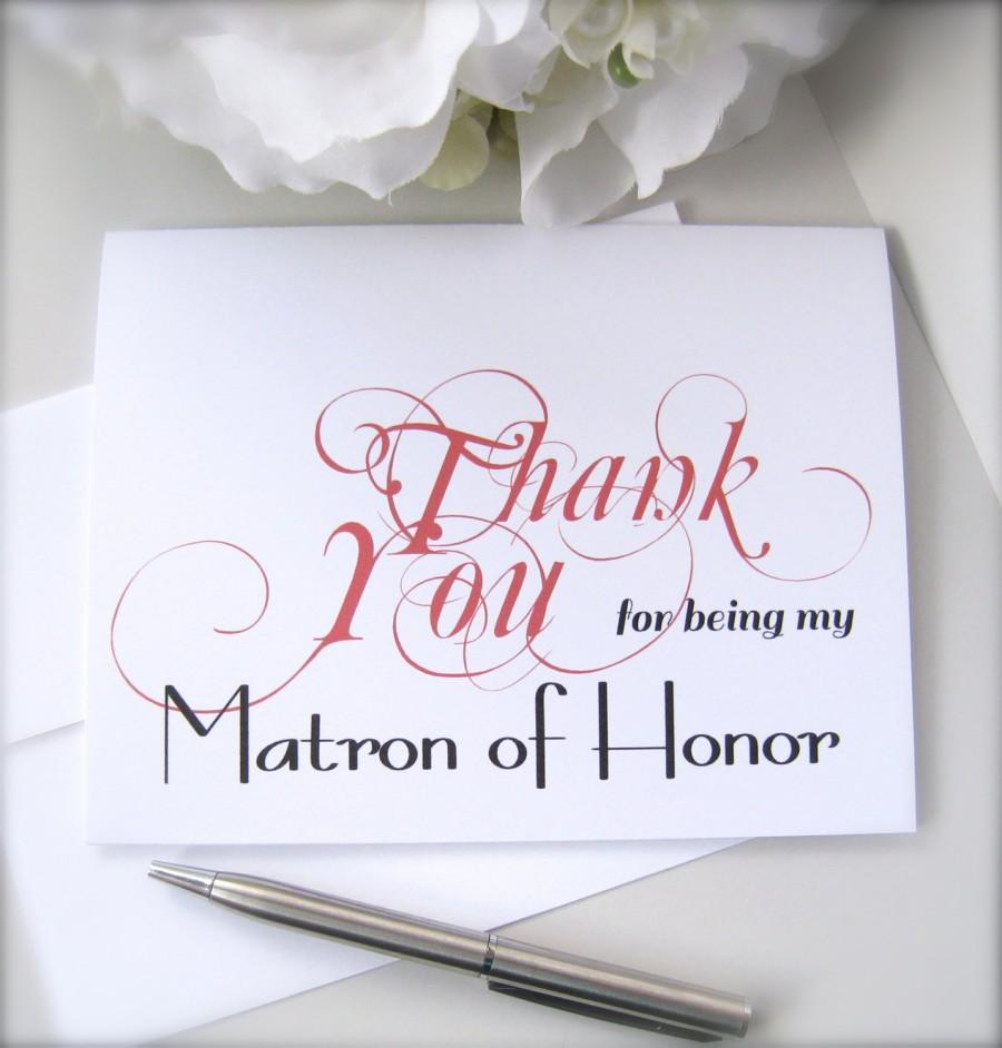 Bridesmaid Thank You Card Maid Of Honor Card Flower Girl Thank You