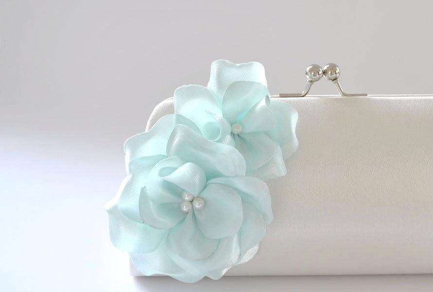 Свадьба - Bridal Clutch - Something Blue