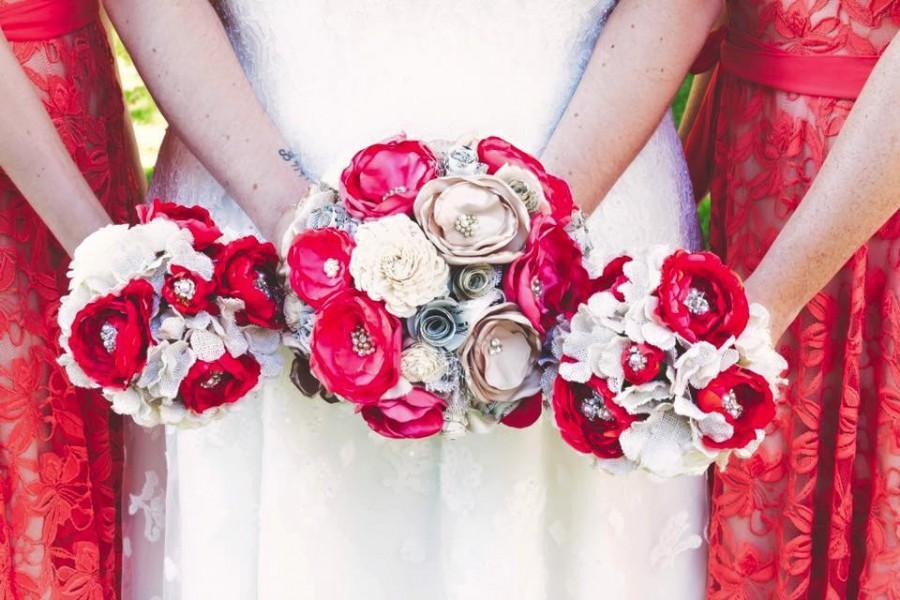 زفاف - Coral wedding bouquet -  bridal bouquet